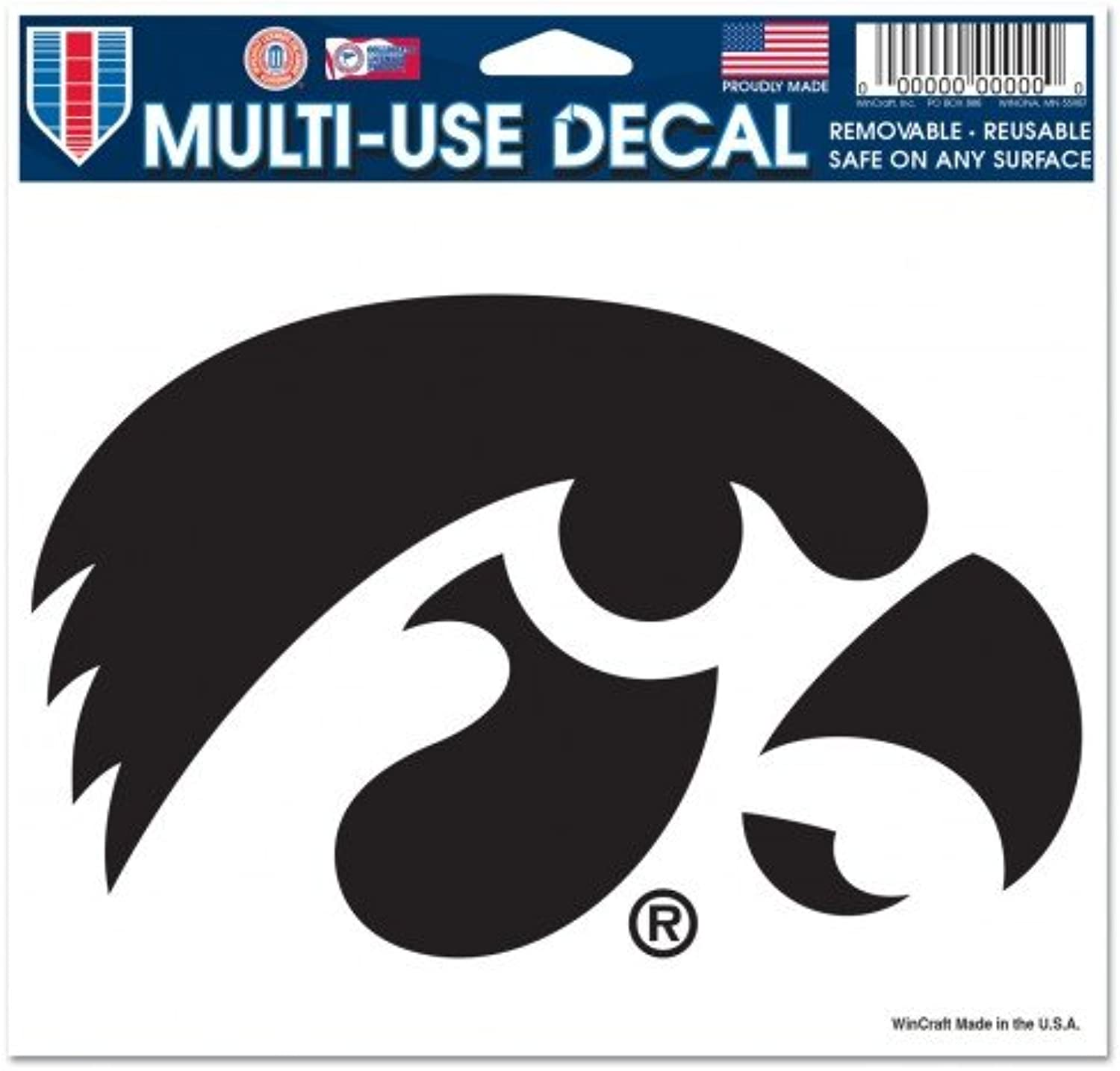 Iowa Hawkeyes Removable 5 x6  Car Decal