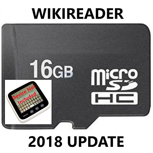 WikiReader Update 2018 (No Device) Gutenberg Edition Wiki Reader Upgrade