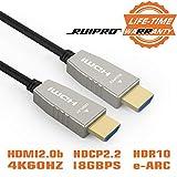 RUIPRO 20 Metros Cable HDMI de Fibra 4K 60Hz HDMI 2.0 18.2 Gbps ARC HDR10 Dolby Vision HDCP2.2 4:4:4 Cable óptico HDMI Ultra Delgado y Flexible con tecnología óptica