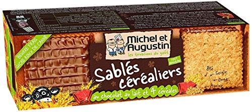 MICHEL ET AUGUSTIN - Biscuits Sablés Céréaliers Chocolat au Lait - Biscuits Sablés - 178g