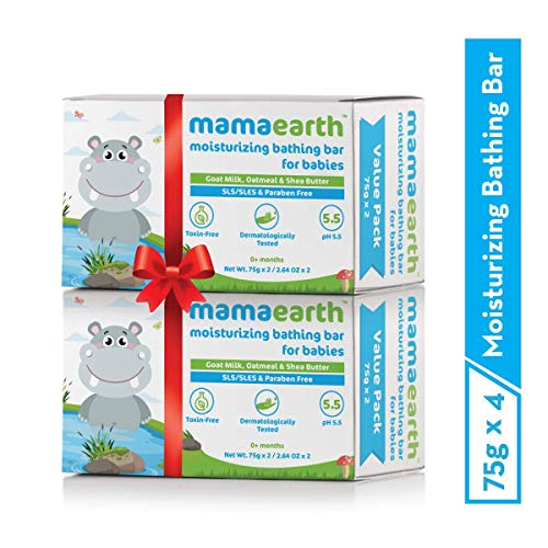 Mamaearth Moisturizing Bathing Soap Bar for Babies - Pack of 4