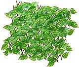 ZHEYANG Seto Artificial Ocultacion Jardin Malla De Ocultacion con Hojas Paneles de Valla de Enrejado de protección de jardín de Hoja de Hiedra de privacidad de Valla de jardín de Hoja Artificial Hi