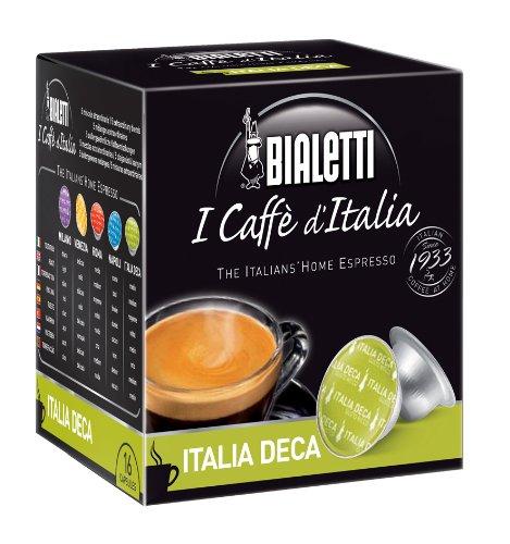 Bialetti - 096080094/m - Pack de 16 capsules de café compatible cafetière bialetti décafeiné ITALIA DECA