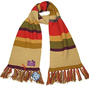 Doctor Who Scarf – Fourth Doctor (Tom Baker) Shorter Scarf – Official BBC Licensed Merchandise by LOVARZI