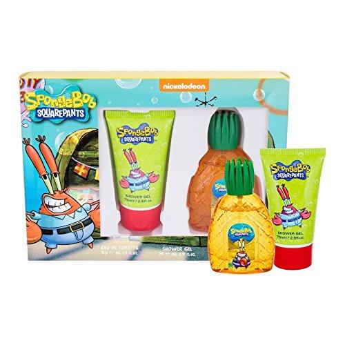 Mr. Krabs Bob Esponja Bob Esponja Mr. Krabs Eau De Toilette Spray Y Gel De Ducha Set De Regalo 1 Unidad 1400 g