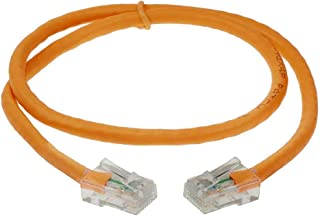 SF Cable 6ft Cat 6 Non-Booted Unshielded (UTP) Ethernet Network Cable, RJ45 Plug, 550Mhz Snagless Patch Cable, 24AWG 4pair Stranded Copper Wire - Orange