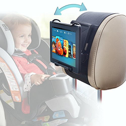 Car Headrest Holder WANPOOL Angle Adjustable Car Headrest Mount Holder for 7 -10 Inch Fire Tablets