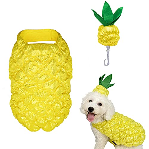 cyeollo Dog Halloween Costume Pineapple Dress-up Costumes Cosplay Outfits Funny...