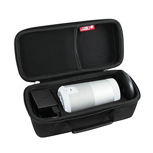 Hermitshell Hard EVA Travel Triple Black Case Fits Bose SoundLink Revolve Bluetooth Speaker and Charging Cradle