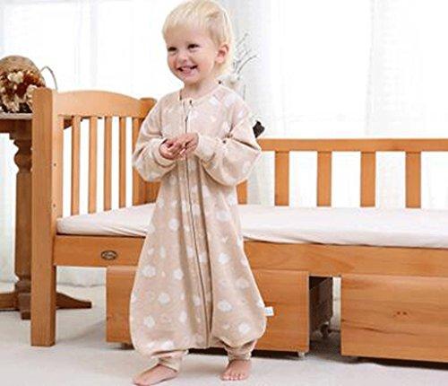 Jingdian fzw Sac de Couchage pour bébés Printemps et Automne Coton en Coton Jambes séparés Sac de Couchage Coton été Anti-Kick Quilt (Taille : M)