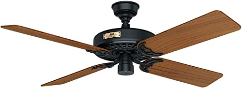 """discount Hunter online Original 2021 Indoor / Outdoor Ceiling Fan with Pull Chain Control, 52"""", Brass-antique sale"""