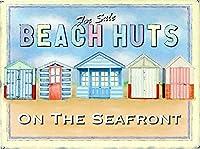 販売のためのビーチ小屋、ブリキのサインヴィンテージ面白い生き物鉄の絵画金属板ノベルティ