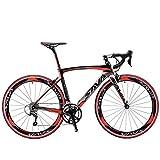 SAVADECK Carbon Road Bike, Warwinds3.0 700C Carbon Fiber Racing Bicycle with SORA 18 Speed...