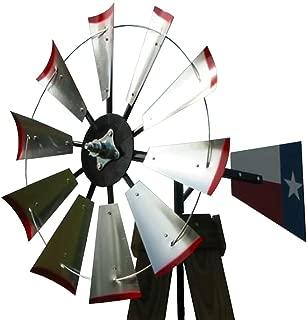 30-inch Windmill Head w/Texas Flag Rudder, Build an 8-Foot Tall Windmill