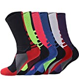 YOUNGBEST Men's Cushioned Crew Sock 6 Pack Outdoor Breathable...