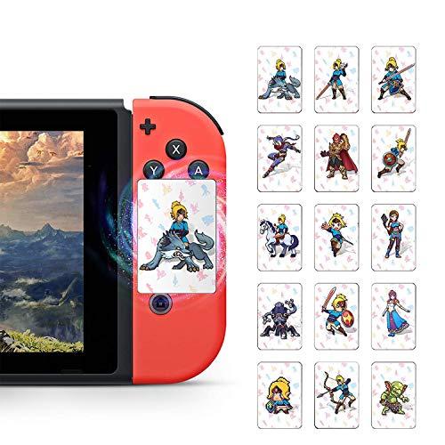 24 Stück NFC Karten Mini Karten für Link's Erwachen Zelda Botw Spiel Belohnungskarten T he Legend of Zelda Breath of The Wild Botw mit Kartenhalter für Switch/Switch Lite/Wii U