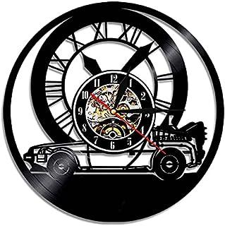 GJHK Enregistrement de Vinyle créatif Retour à la Future Horloge Murale Murale rétro lumière de la lumière de télécommande...