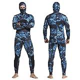 LIOPJH Traje de neopreno de dos piezas de neopreno de 3 mm, traje de buceo para hombre, traje de buceo de buceo subacuático de cuerpo entero