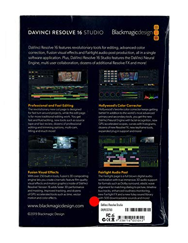 Blackmagic Design Davinci Resolve Studio Activation Card Buy Online In India At Desertcart In Productid 51115000