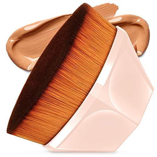 Spazzola Per Fondotinta A Forma Di Petalo Foundation Brush, Pennello per Fondotinta Copertura Con Custodia, Adatta Per Cosmetici In Crema O Liquidi Misti (Rosa)