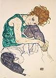 World of Art Global Egon Schiele Sitzende Frau mit Beinen