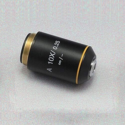 JINKEBIN Microscopio biológico microscopio acromático Infinity Objetivo Lente 4X 10X 20X 40X 60X 100X Infinity Sistema compatible con Olympus Microscopio (color 10X)