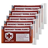 Velany Emergency Mylar Thermal Blankets,Emergency Blankets (5 Pack), Space Blanket, Designed for NASA, Outdoors, Hiking, Survival, Marathons or First Aid