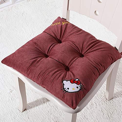 LASIMAO Espesar la Plaza Pad Chair, sólido Amortiguador de Asiento de algodón en Color, Soft Comfort Caliente computadora de Oficina Silla Silla de Comedor Estudiante de ratón,W,42 * 42CM