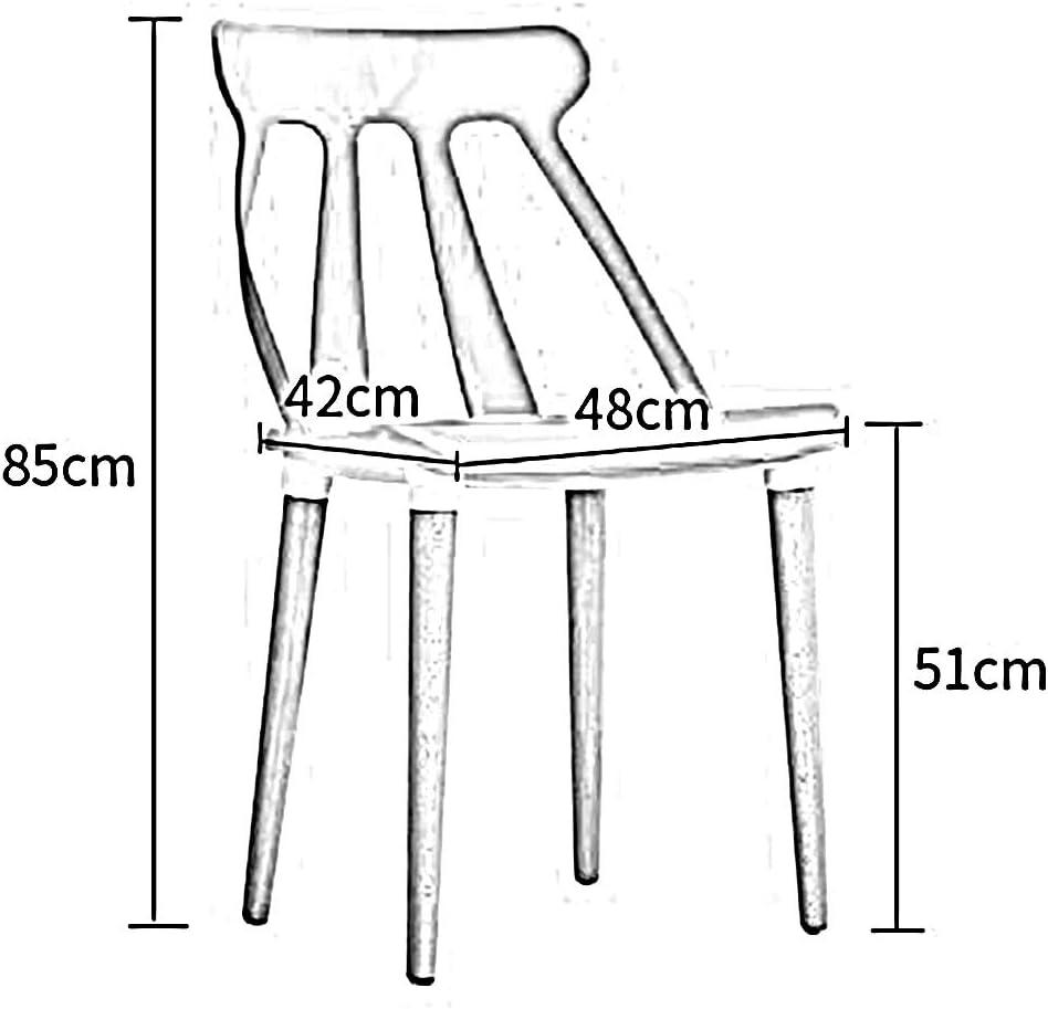 HURONG168 Chaises de cuisine Chaise d'étude maison créatif moderne minimaliste tabouret chaise adulte nordique designer chaise à manger siège lounge (Couleur : Noir) Blanc