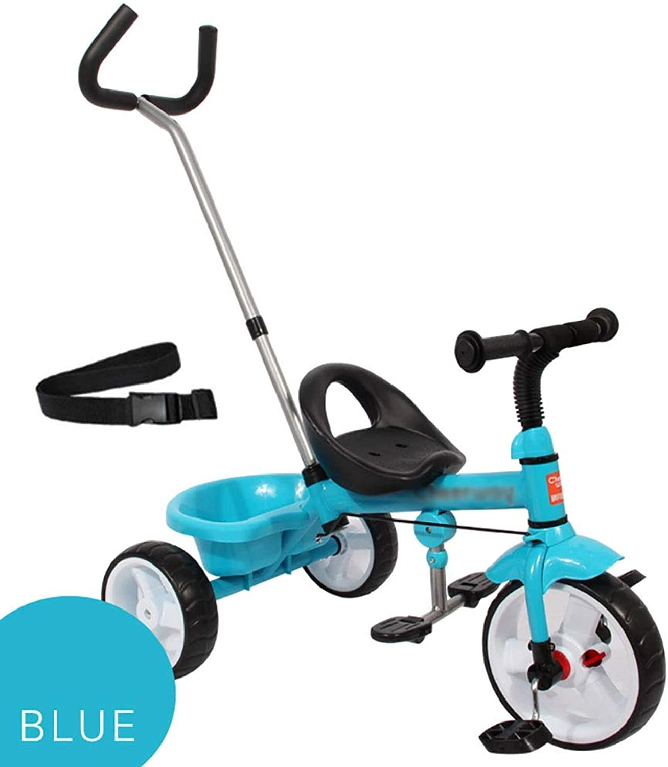 Trike Kids Trike, Baby Infant Ride-On Pedal Bicycle, Adjustable Push Handle Congreenible Tricycle Stroller