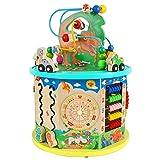 Actividad juguetes del cubo Multifunción Puzzle rebordeó Juguetes de madera intelectual del juguete del bebé Las primeras Educación Hexaedro Juguetes, 1-12 for niños y niñas para los niños pequeños