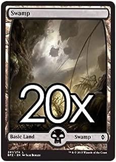 20 Battle for Zendikar Swamp #261 Magic the Gathering Basic FULL ART Land Lot