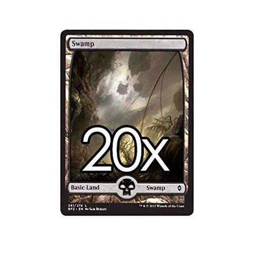 Cool Stuff Inc., LLC 20 Battle for Zendikar Swamp #261 Magic The Gathering Basic Full Art Land Lot