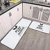 Kitchen Rug Sets, Farm Chicken Barn 2 Piece Non-Slip Soft Kitchen mat Sets for Floor, Kitchen, Bathroom, Sink, 59.05X17.7inch and 29.52X17.7inch