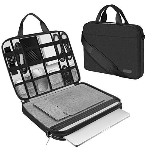 Arvok 15.6 Zoll Laptoptasche Schutzhülle Wasserdicht Neoprene, Laptop Sleeve Hülle Laptophülle Notebook Hülle Tasche für Acer/Asus/Dell/Fujitsu/Lenovo/HP/Samsung/Sony (15,6 Zoll, Schwarz)