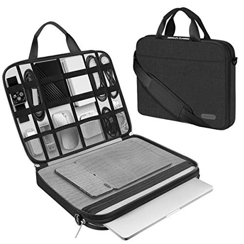 ARVOK 15 15.6 Inch Laptop Sleeve and Accessory Case with Strap & Handle, Notebook Computer Case Briefcase Carrying Bag for for Acer/Asus/Dell/Lenovo/HP