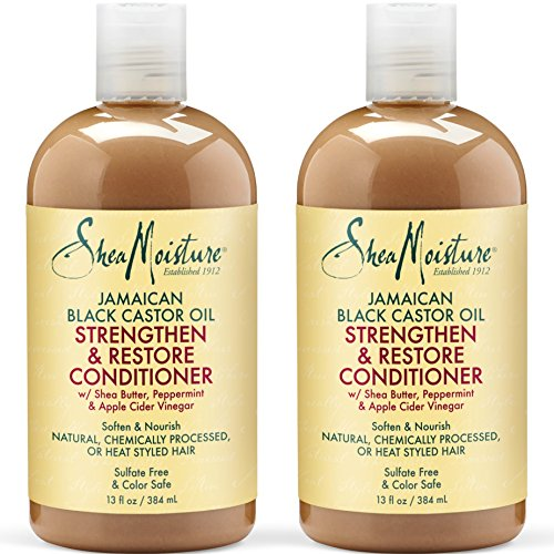 Shea Moisture Jamaican Black Castor Oil Strengthen & Restore Conditioner | Pack of 2 | 13 Oz Each
