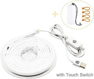 Bonlux Impermeable USB LED Tira 5V 4.5W 450lm 200cm Luz Fría 6000k de Bajo Consumo para Acampada, Escalada, Picnic, Actividades exteriores