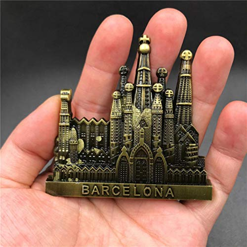 GUIMEI Etiqueta engomada del refrigerador de Metal 3D EE. UU. Egipto Francia Austria España Dubai Rusia Shanghai Oscar imanes de Nevera de Metal Recuerdo turístico