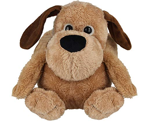 Ladies Girls Jo & Joe Teddy Bear Dog Beagle Plush 3D Soft Toy Slip On Warm Christmas Novelty Slippers Size L (UK 7-8/ EU 40-41), Dog (Beige)