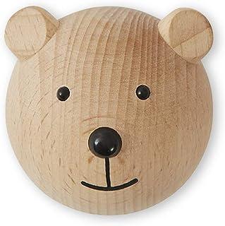 OYOY Mini – väggkrok av trä bär/björn – trädgårdsskoskrok för barn/barnkammare – 4,5 x 6 x 4,5 cm