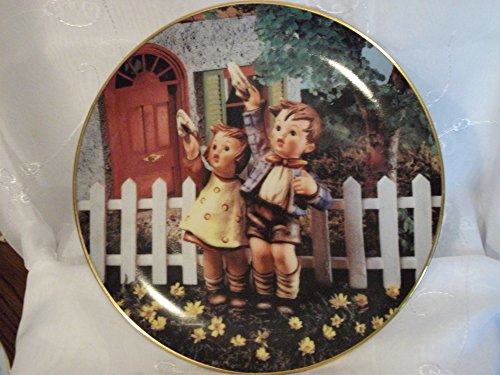 """The Danbury Mint M I Hummel Little Companions Series""""Come Back Soon"""" Collector Plate"""