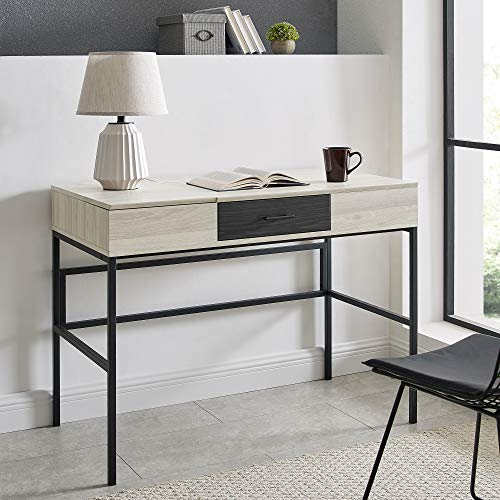 Walker Edison Modern Wood Computer Writing Desk Storage Drawer Home Office Workstation Small, 42 Inch, Birch/Graphite
