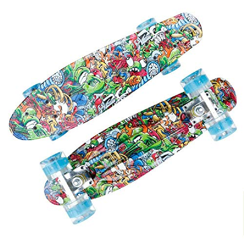 SHLYXY Longboard Für Kinder Jungen Mädchen Anfänger Skateboard Skateboard Komplett Deck Skateboards Skateboard 55x14x11cm_Anime World