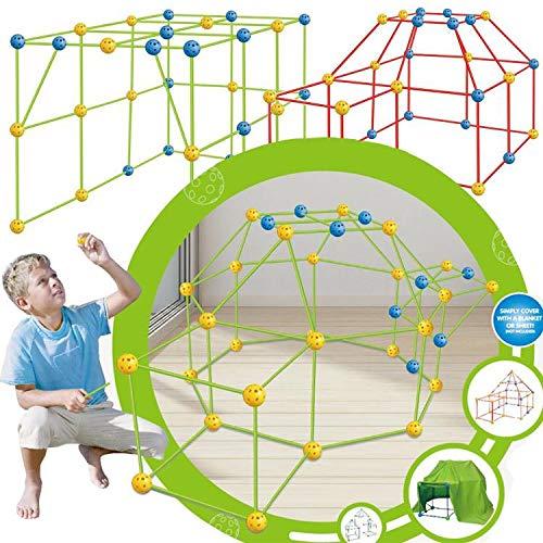 Qingsi 1Set de Forts Constructor de Cohete y Juego Kit de Construcción de Construir Kits de Juguetes Fuerte Kit de Construcción Flexible de Construcción Fuerte de BRICOLAJE Castillos