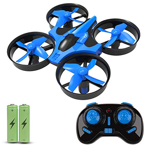 JoyGeek niños, cuadricóptero RC con 2.4 G 4 Canales 6 Ejes Modo sin Cabeza, 360 ° OVNI Mini Quadcopter Dron, Flip & Rolls Control Remoto Helicóptero de Retorno de una Llave (Azul), Color (JGRCQ4-03)