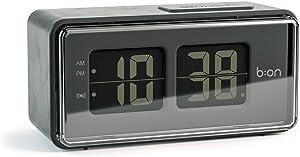 Balvi B:on-Flipréveil numérique de Style Flip. Écran LCD reproduit Le Mouvement d'une Horloge Flip. Couleur Noire.