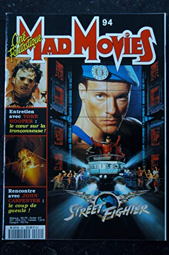 Ciné Fantastique MAD MOVIES n° 94 1995 JEAN-CLAUDE VAN DAMME STREET FIGHTER Tobe HOOPER JOHN CARPENTER Star Trek GENERATIONS