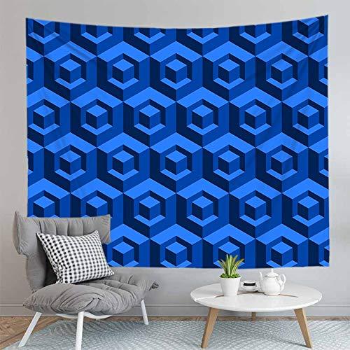 KHKJ Tapiz Colgante de Pared geométrico de Panal para Dormitorio decoración del hogar tapices psicodélicos A6 200x150cm