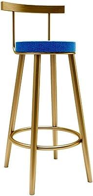 YJPG Sedia Alta da Bar in Legno Moderno Sgabello Alto da Bar in Ferro Sgabelli da Bar Sedie Sgabelli da Bar Sgabelli Alti Anteriori Altezza Seduta 60 cm Colore : A, Dimensioni : 60cm